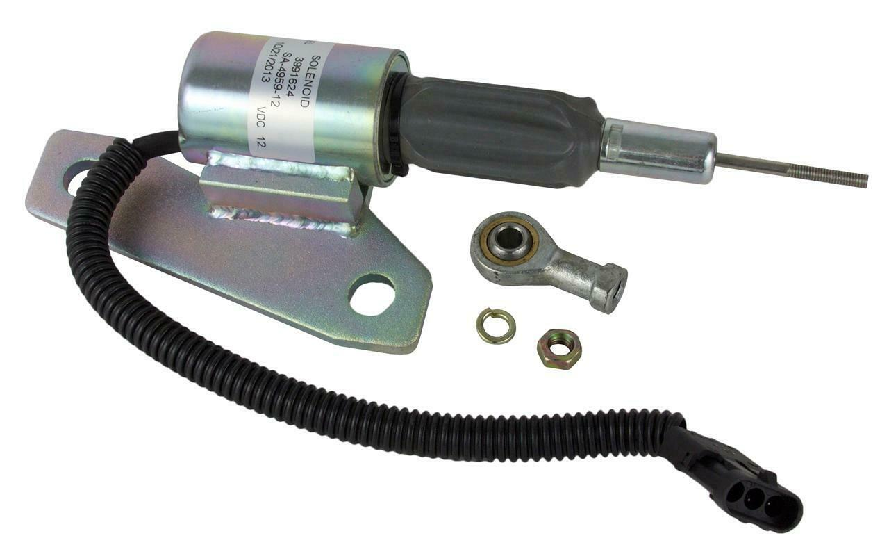 NEW 24 VOLT Fuel Shutdown 3991624 for Cummins 6BT 5.9l Hyunaai R225-7 R220-5