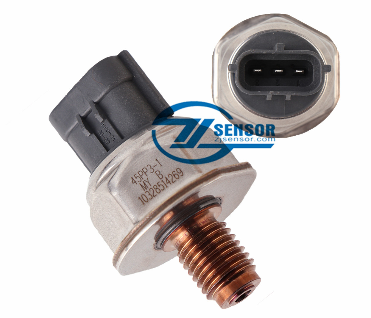 45PP3-4 Common Rail High Pressure Sensor For Ford Transit 2.2 & 2.4 / Citroen Relay 2.2 & 2.4 / Fiat Ducato 2.2 & 2.4 / Mitsubishi 4D56 / Isuzu / Land Rover 2.2 & 2.4
